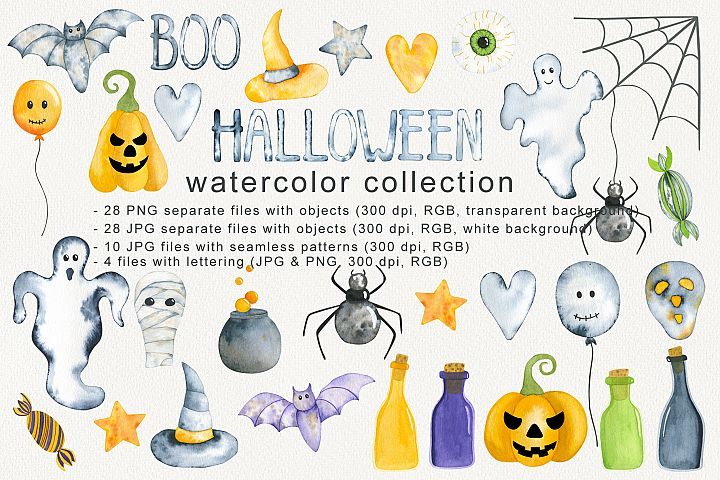 HALLOWEEN WATERCOLOR COLLECTION