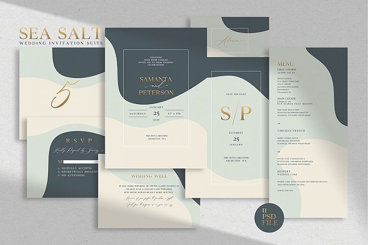 SEA SALT - Wedding Invitation Suite