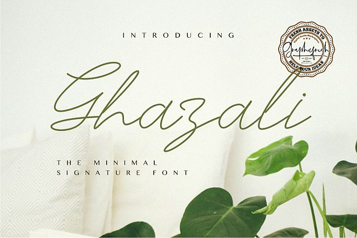 Ghazali - The Minimal Signature Font