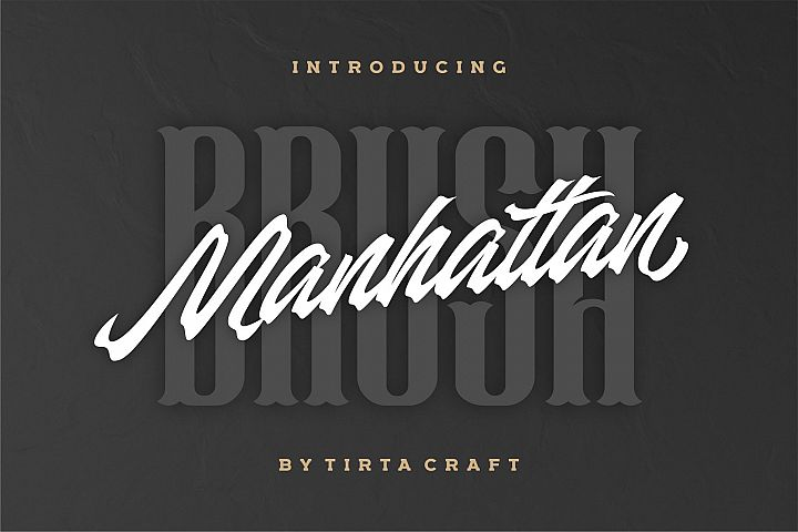 Manhattan Brush - Ink Script Font