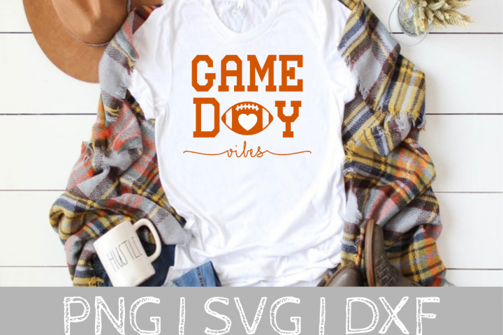 Game Day Vibes Football SVG Cut File