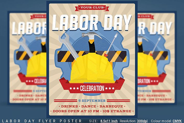 Labor Day Flyer Poster