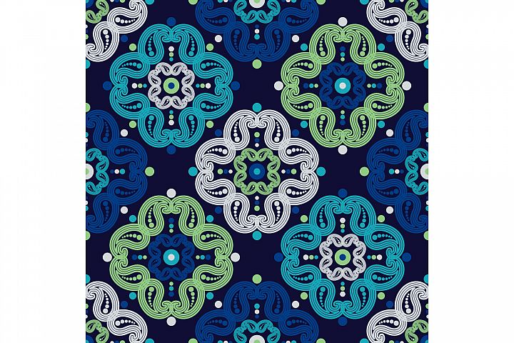 Paisley ornament. Set of 10 seamless patterns.