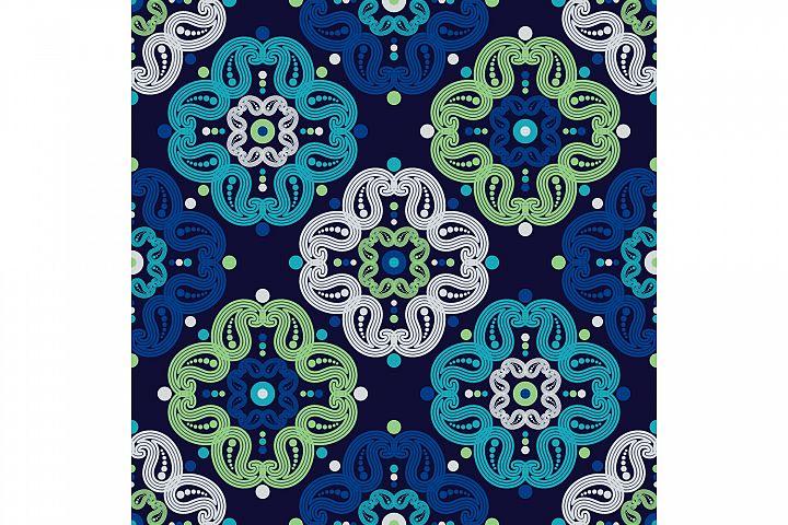 Paisley ornament. Set of 10 seamless patterns.