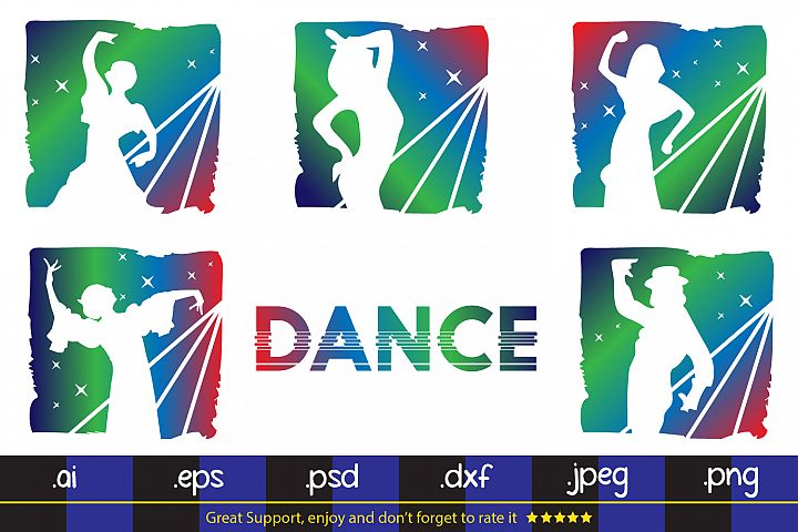 Dance Party -SVG DXF EPS PNG Cutting File