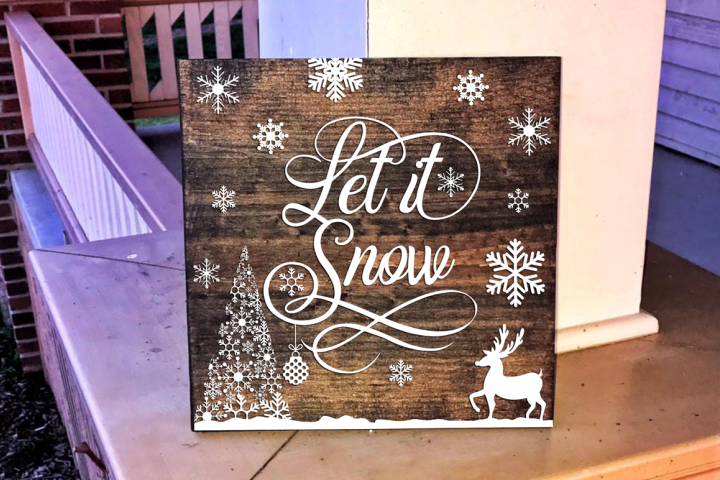 Let it Snow - Christmas SVG Cut File