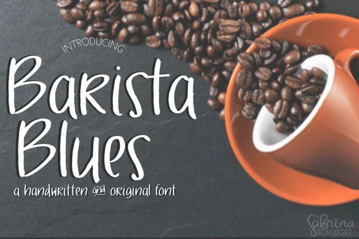 Barista Blues- Handwritten Font