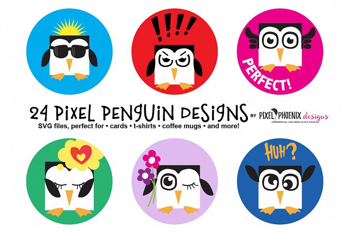 Pixel Penguin SVG Bundle