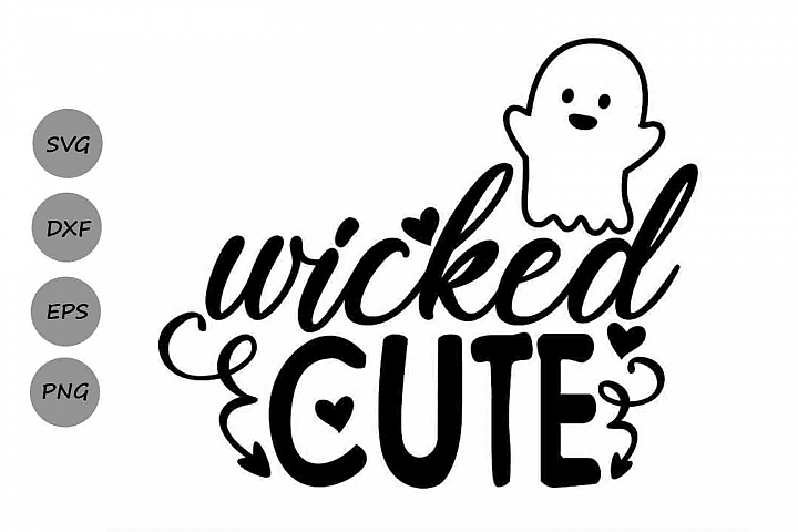 Wicked Cute Svg, Halloween Svg, Spooky Svg, Kids Halloween.