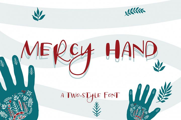 Mercy Hand - a two-style handwritten font