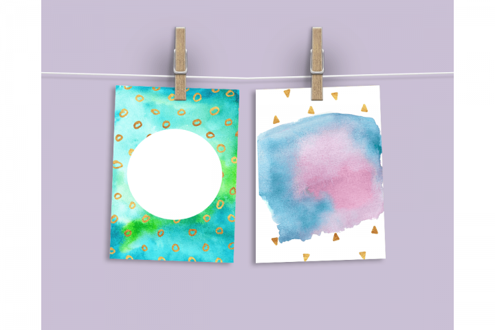 Watercolor Textures - card edition - Free Design of The Week Design 10