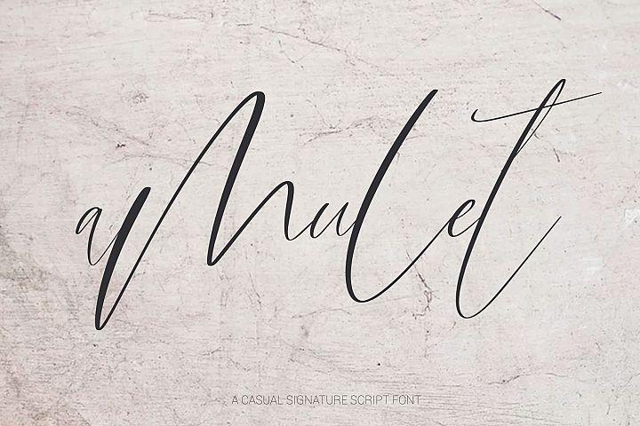 Amulet. Signature Script Font