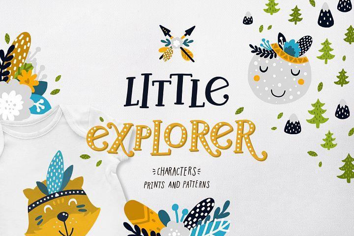 Little explorer - Woodland animals Graphic & Patterns