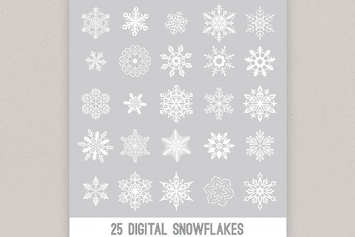 Digital Snowflake Designs, Vector Snowflakes PNG winter snow