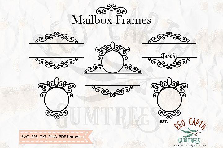 Mailbox frames bundle in SVG,DXF,PNG,EPS,PDF formats