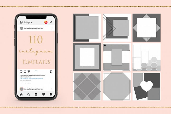 110 Instagram Photoshop Templates