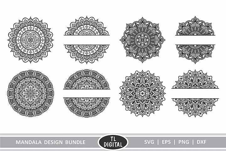 Mandala Design Bundle Includes 8 Designs - Cutting File