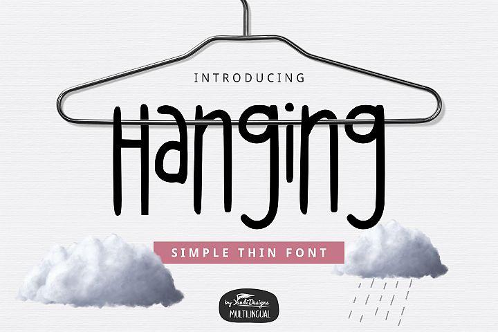 Hanging Thin Font