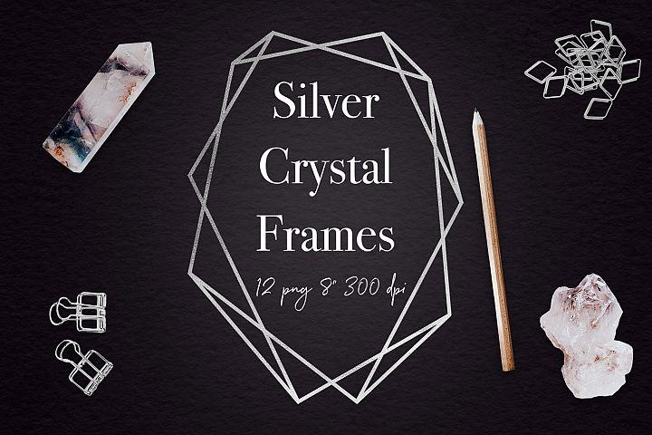 Silver Geometric Frames