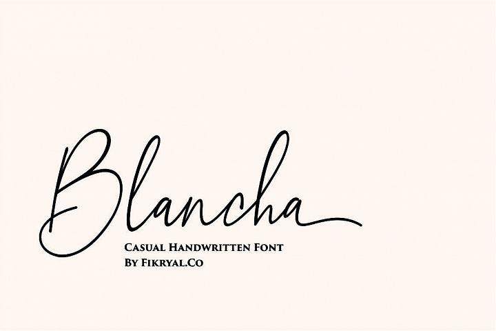 Blancha - Handwritten Font