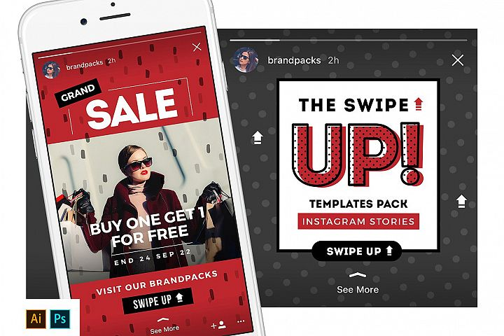 SWIPE UP Instagram Stories Templates
