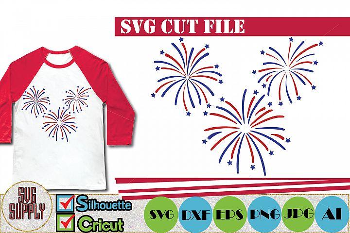 Fireworks Patriotic Day SVG Cut File