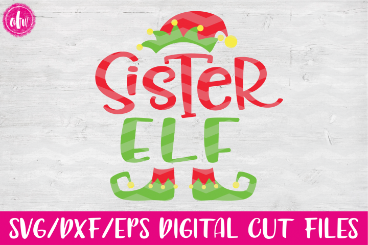 Sister Elf - SVG, DXF, EPS Cut Files