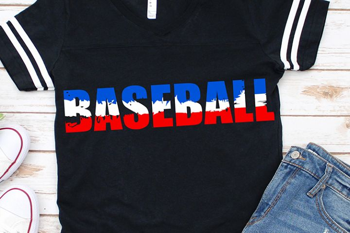 baseball ombre distressed american flag