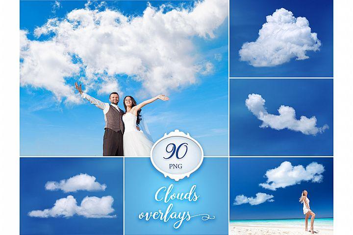 90 Cloud Photo Overlays