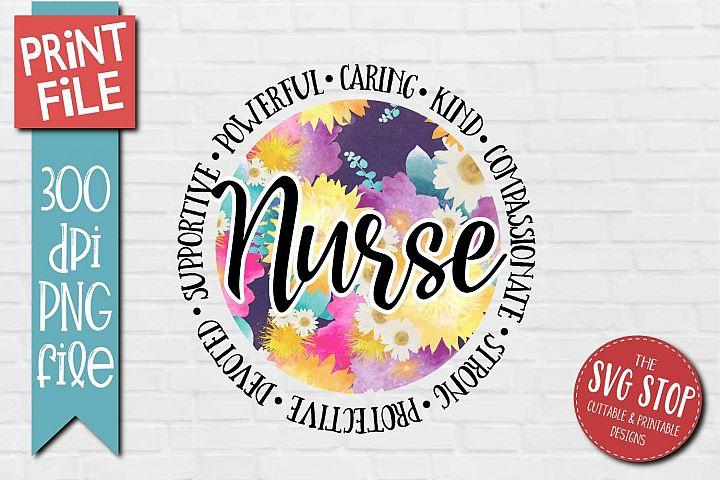 Nurse Appreciation Quote Sublimation Design PNG