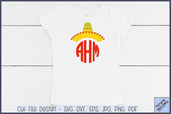 Sombrero Monogram Topper - SVG and Clipart
