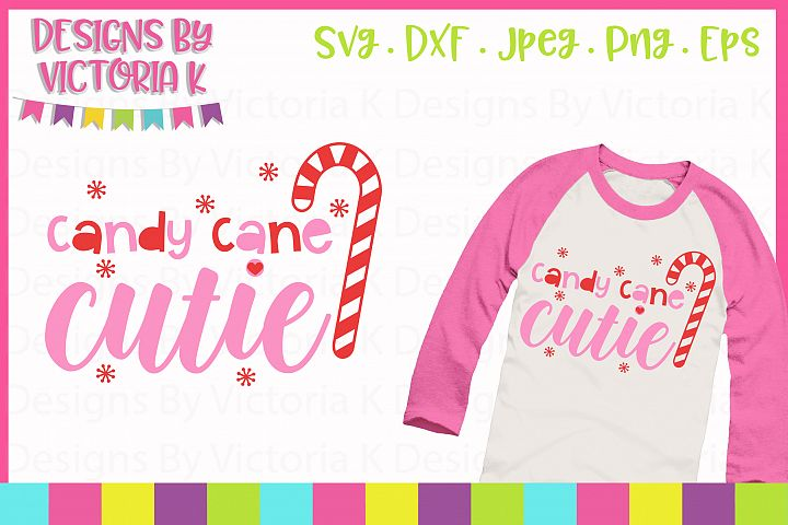 Candy Cane Cutie, Christmas, SVG, DXF, EPS