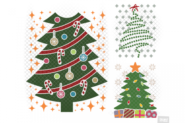 Christmas Tree Ugly Sweater SVG in SVG, DXF, PNG, EPS, JPG