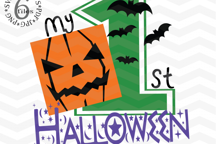 My 1st Halloween Pumpkin svg - First Halloween cut file