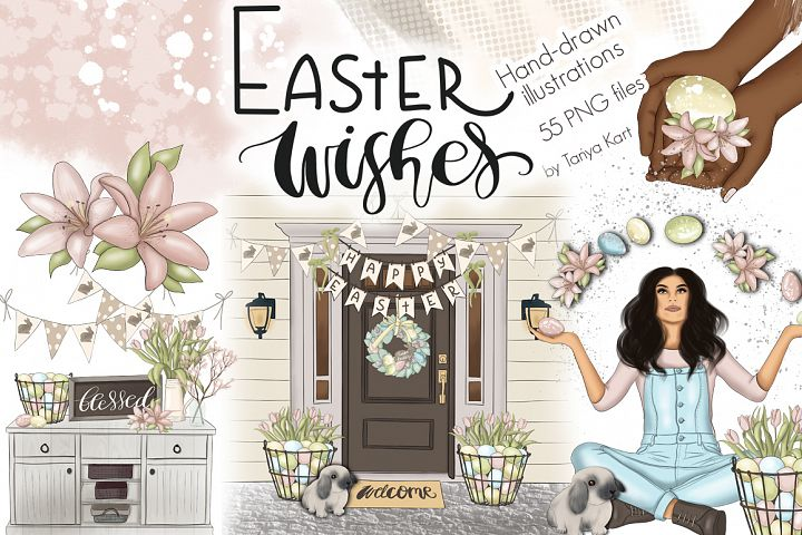 Easter Wishes Graphic Design Kit