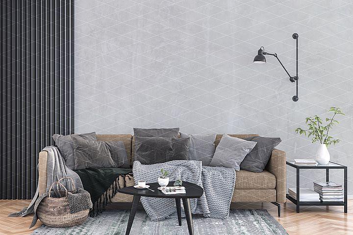 Wall mockup - wallpaper mock up