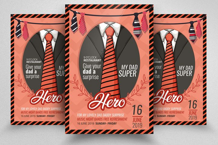Fathers Day Flyer/ Poster Template