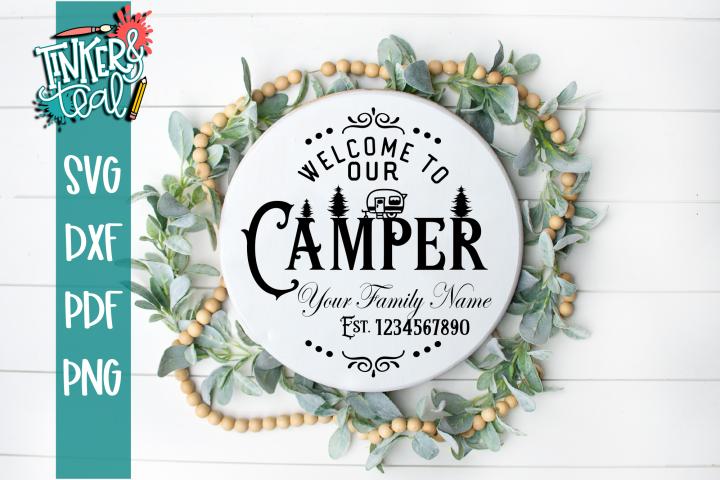 Custom Camping SVG cut file