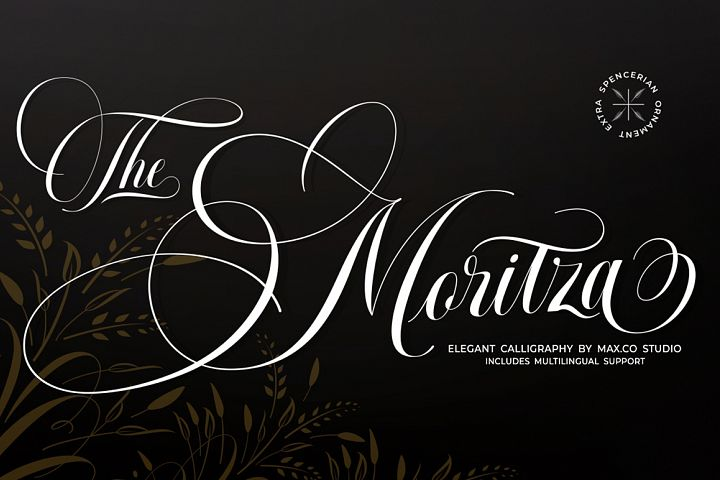 The Moritza Script- With Ornament