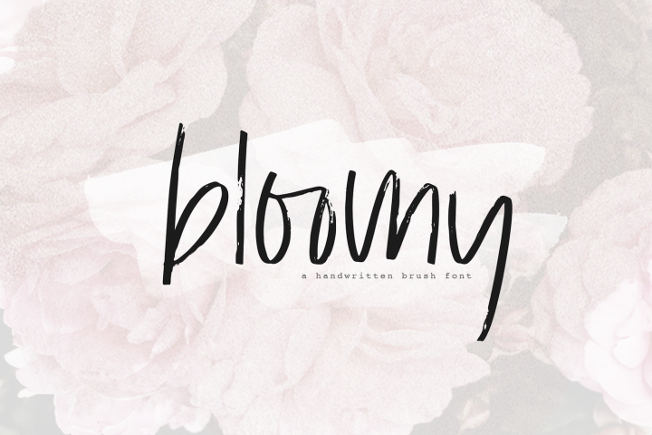 Bloomy - A Handwritten Brush Font