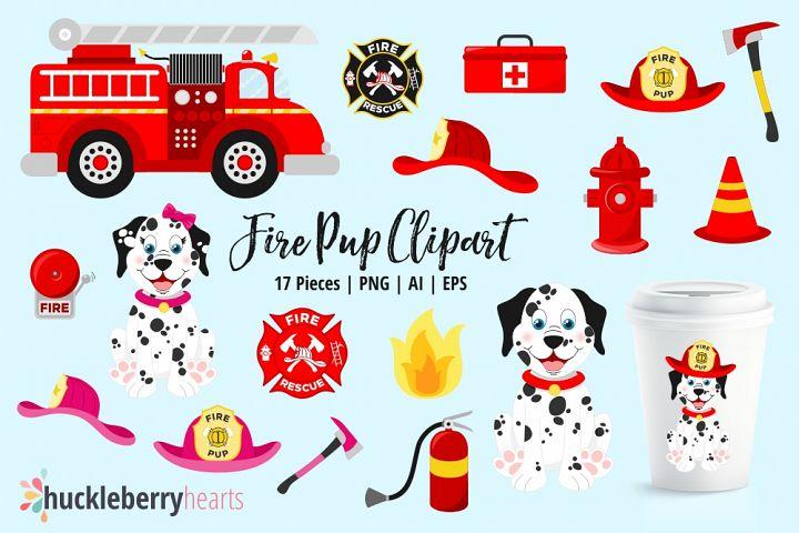 Fire Pup Clipart