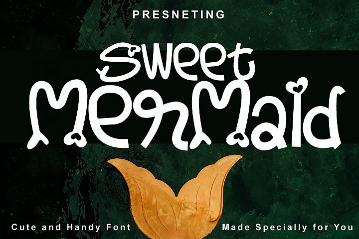 Sweet Mermaid - Handcrafted Cute & Fun Font