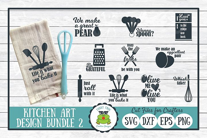 Kitchen Art Design Bundle 2 - SVG Cut Files for Crafter