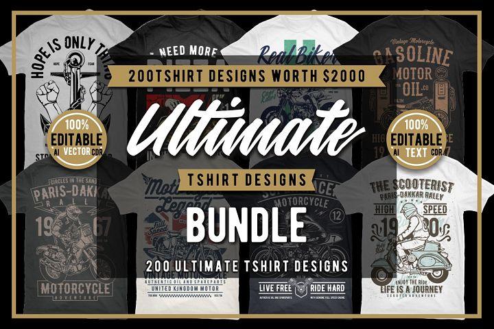 200 Tshirt Designs Bundle