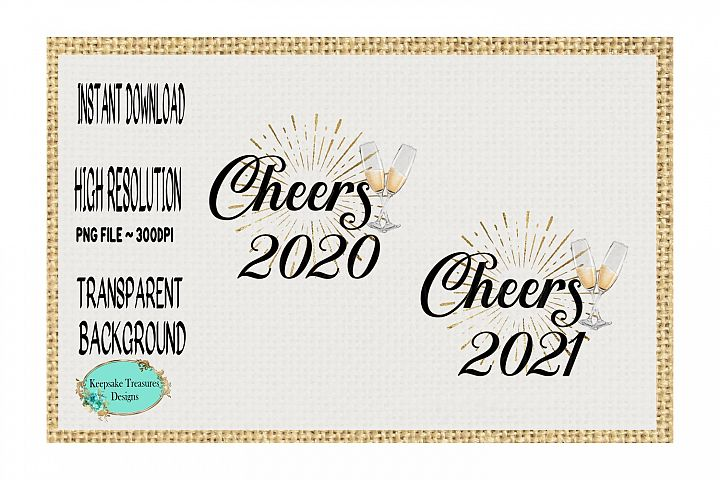 New Year Cheers 2020 and 2021