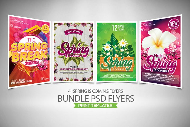 4 Spring Flyers Bundle