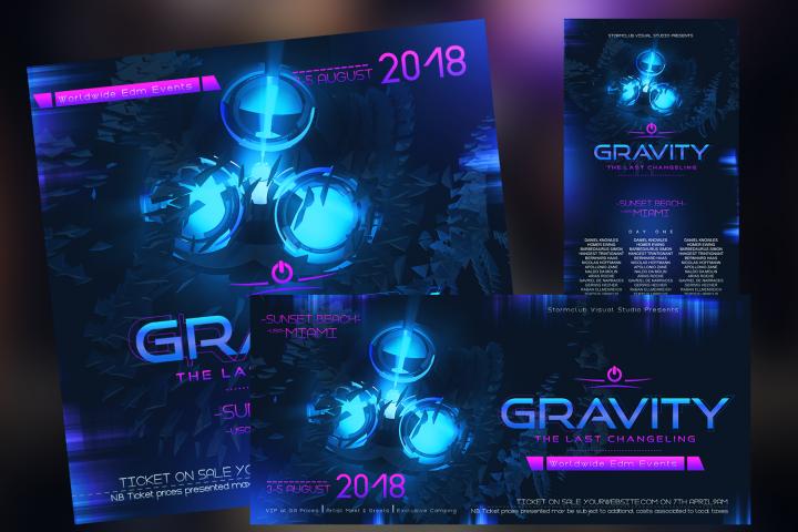 Gravity EDM Banner Template