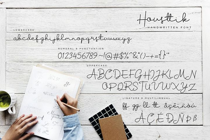 Housttik Handwritten Script example 8