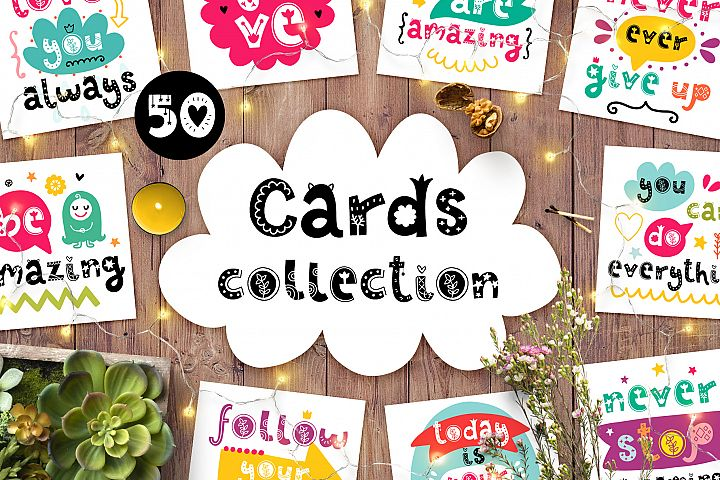 50 Decorative Cards Set