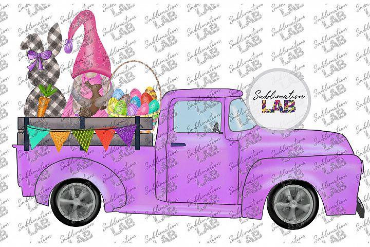 Easter Truck Gnome Digital Download Easter Sublimation PNG